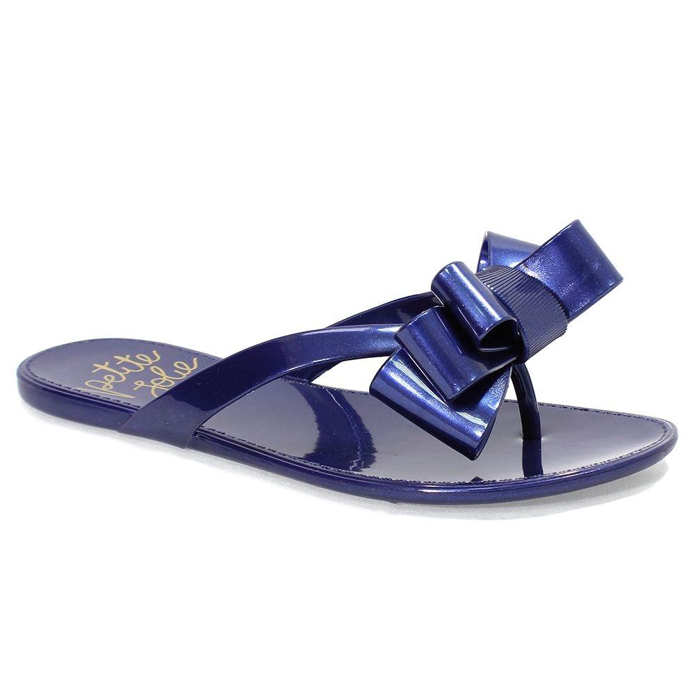 01d5136996 chinelo feminino laço petite jolie azul marinho. Carregando zoom.