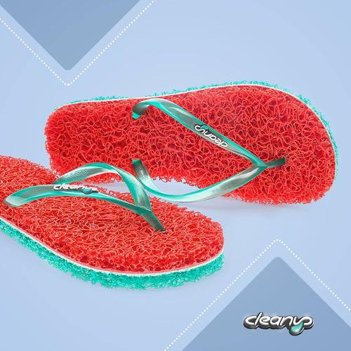 chinelo feminino massageador cleanup boreal vermelho st104