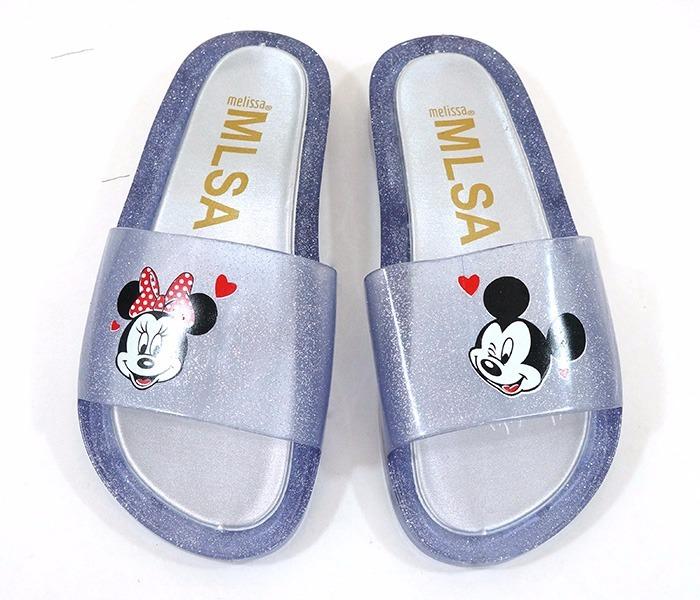 b343b82835 Chinelo Feminino Melissa Beach Slide Mickey Transparente ! - R  26 ...