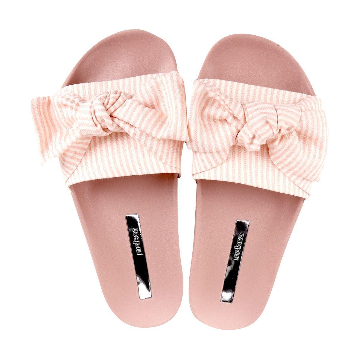 136eb49ac6 chinelo slider feminino moleca de laço listrado rosa. Carregando zoom... chinelo  feminino moleca. Carregando zoom.