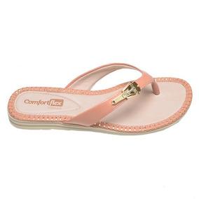 b8ad99e7d Sandálias e Chinelos Femininas Chinelos Comfortflex com o Melhores Preços  no Mercado Livre Brasil