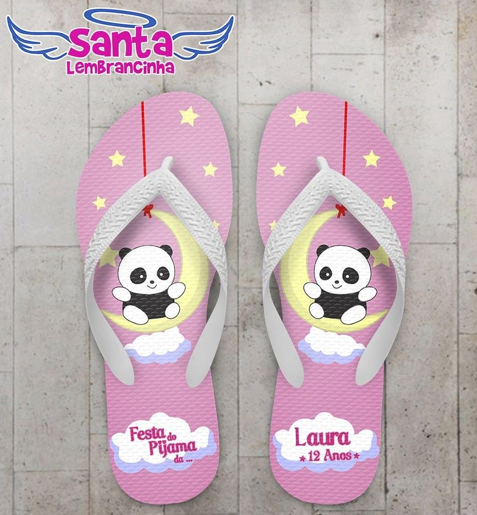 538cb615a74699 Chinelo Festa Do Pijama, Panda Kit Com 50 Pares