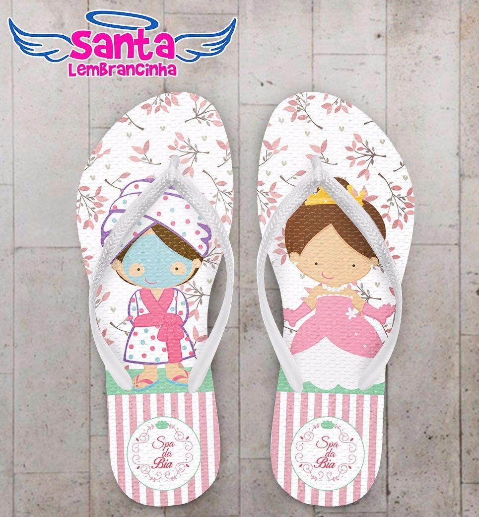 eb0550516b Chinelo Festa Do Pijama Spa Personalizado - Kit 50 Pares - R  499
