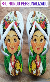 b8a2283f8 Chinelos Frida Kahlo no Mercado Livre Brasil