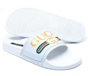 1835e051055 Chinelo Slide Gucci Chinelos - Chinelos no Mercado Livre Brasil