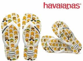 e6e1d47149d6d2 Chinelo Havaianas Branco Emoji Smile Envio Imediato Promoção