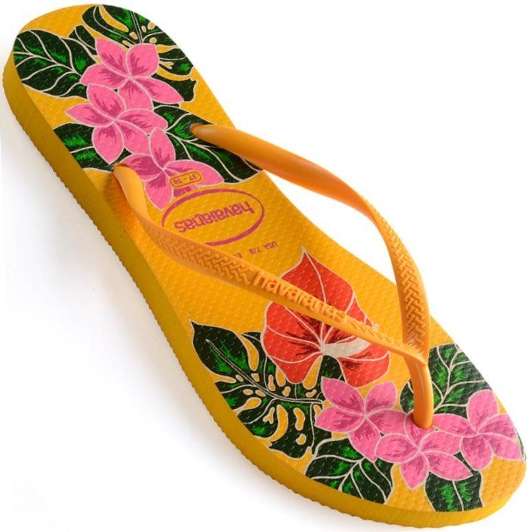 f901b1f8d Chinelo Havaianas Slim Floral Feminino - R$ 42,90 em Mercado Livre