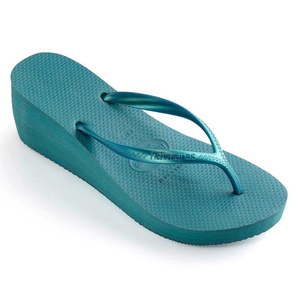 37406a3023d0a4 Chinelo Havaianas High Fashion Azul Mineral - R$ 60,00 em Mercado Livre