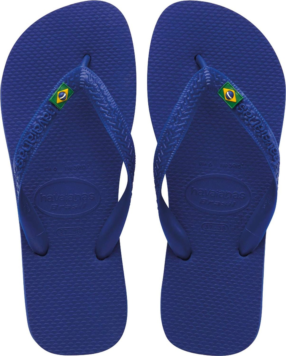 f8aad9bc56 Chinelo Havaianas Masculino Brasil 37 8 Azul Naval Par - R  40