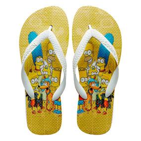 70496309a Chinelo Personalizado Os Simpsons no Mercado Livre Brasil