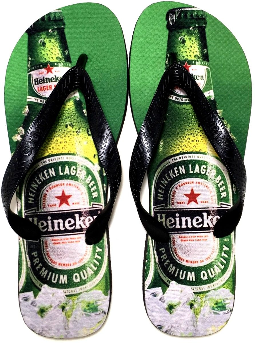 2e522437f62f85 Chinelo Havaianas Personalizada Heineken