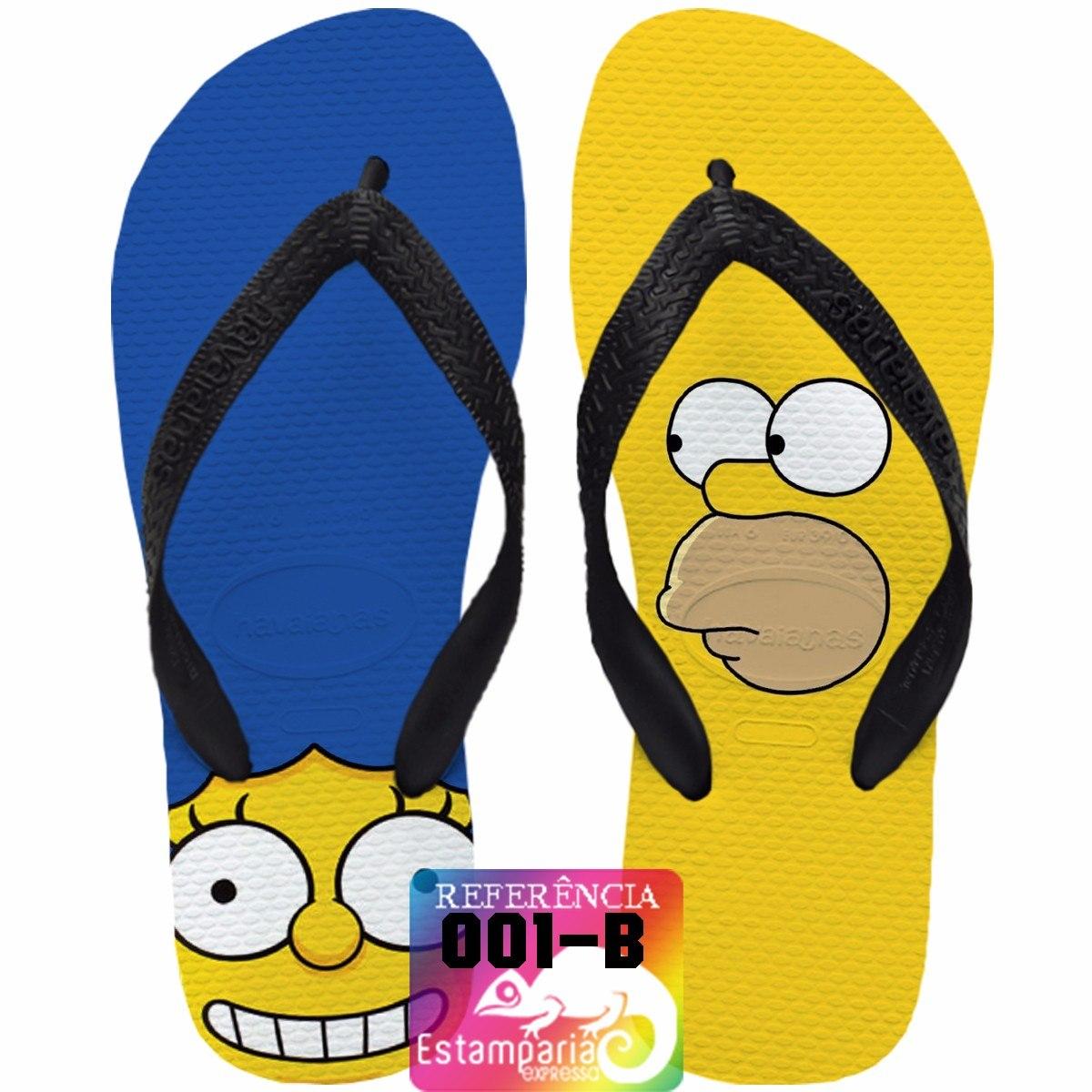 Chinelo Havaianas Personalizado Os Simpsons R  32 90 em 4846f30372c