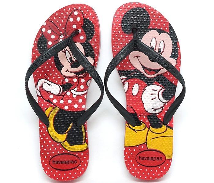 dadf20c26 Chinelo Havaianas Slim Disney Minnie E Mickey - R  55