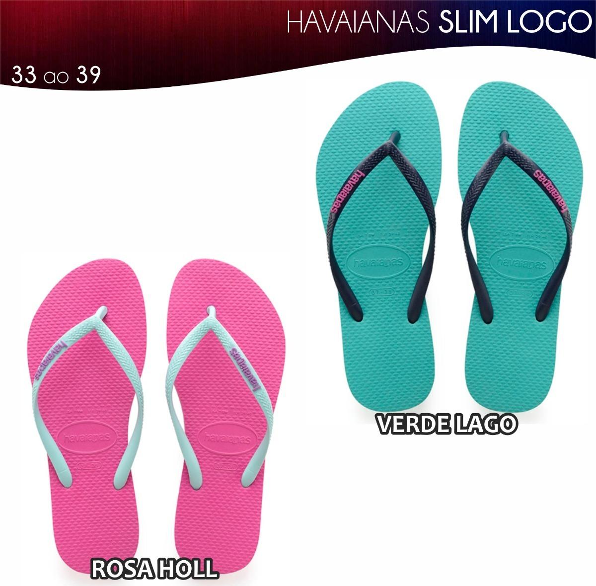 c5fa592489 Chinelo Havaianas Slim Log Pop 15 Pares Originais Atacado - R  335 ...