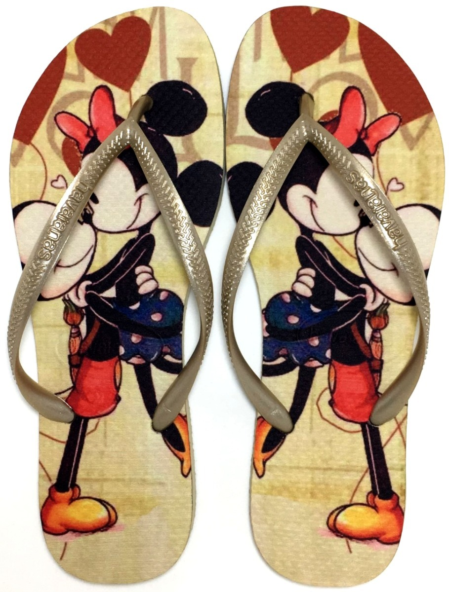f162a7d43 chinelo havaianas slim personalizada mickey minnie retro. Carregando zoom.