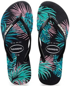 3ee9d1682f Havaianas Tropical - Chinelos Havaianas para Feminino Preto no Mercado  Livre Brasil