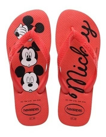 chinelo havaianas top disney mickey minnie - colonelli