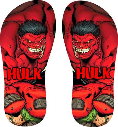 chinelo hulk (personalizado)