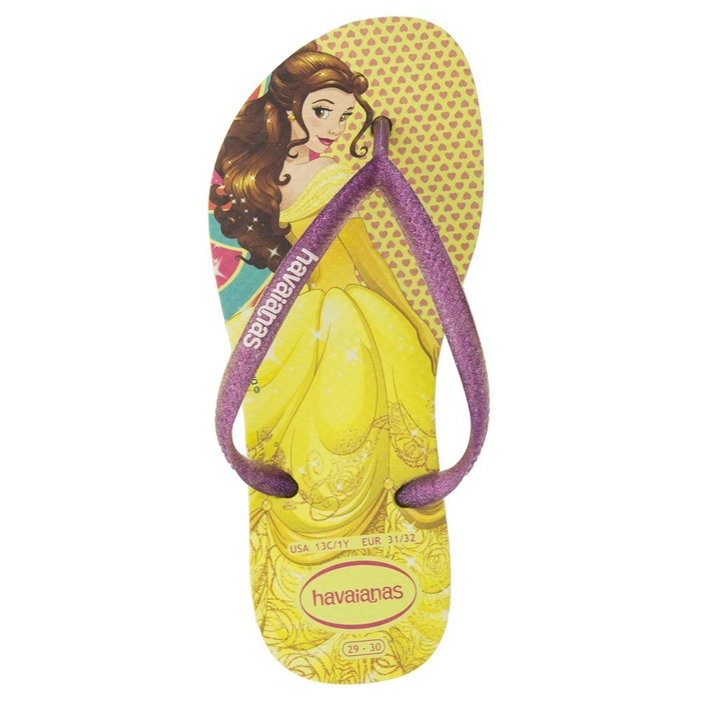 fa0e5fa5d0 chinelo infantil feminino slim princesas amarela havaianas k. Carregando  zoom.