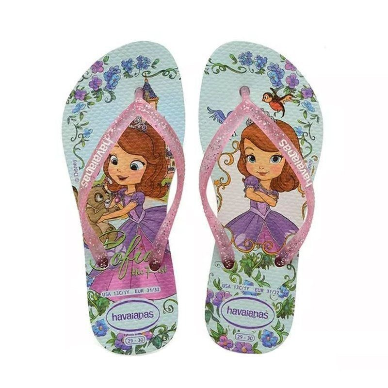 ccc5497ec16053 Chinelo Infantil Havaianas Princesa Sofia Disney Original