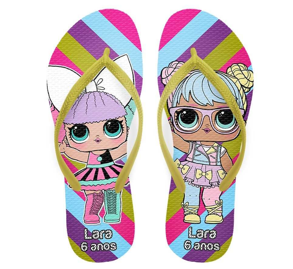 2a9684d11 Chinelo Infantil Lol Dolls