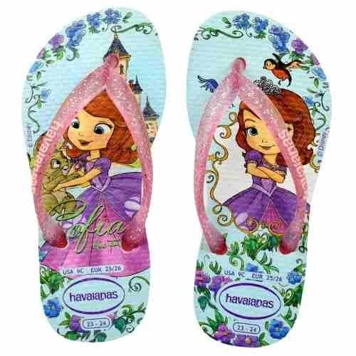 1614e46e50f80c Chinelo Infantil Princesa Sofia Havaianas 6592 - Original