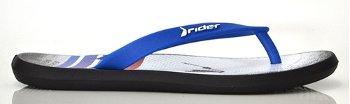 chinelo infantil rider 10718 n13 preto azul elza calçados