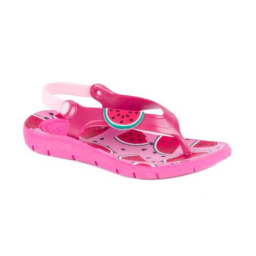 chinelo klin acqua print pink