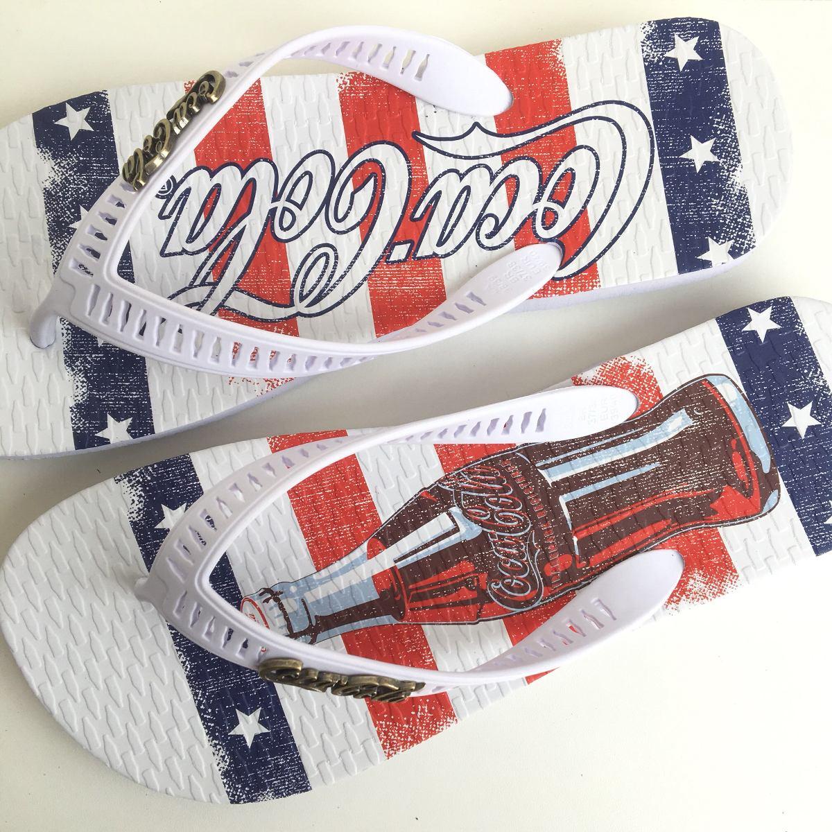 aa4bba2b71 chinelo masculino coca cola shoes original america. Carregando zoom.