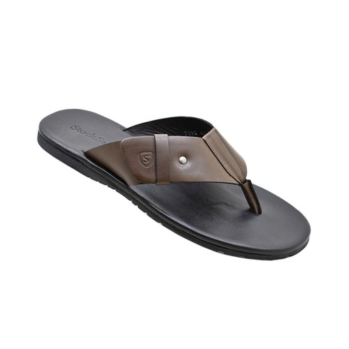 chinelo masculino em couro stock sandals  frete gratis
