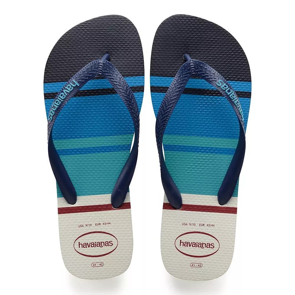 bdd387cbcc chinelo masculino havaianas top nautical branco - original. Carregando zoom.