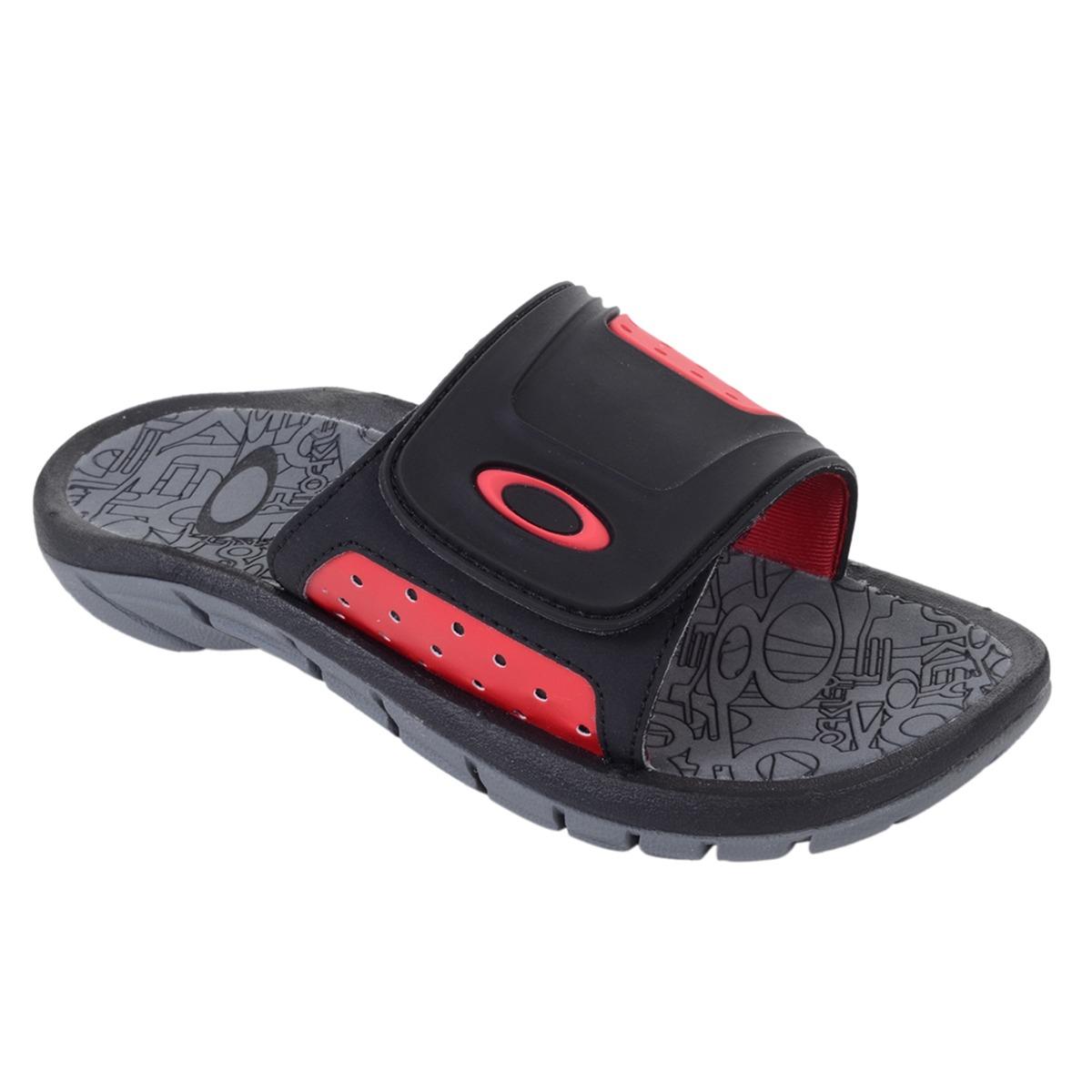 89c78997965b4 chinelo masculino oakley supercoil slide preto vermelho. Carregando zoom.