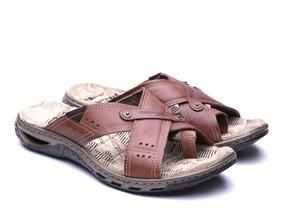 c994c1fd3 Sandália Em Couro (le Monnege) Linha Confort! Masculino - Calçados ...