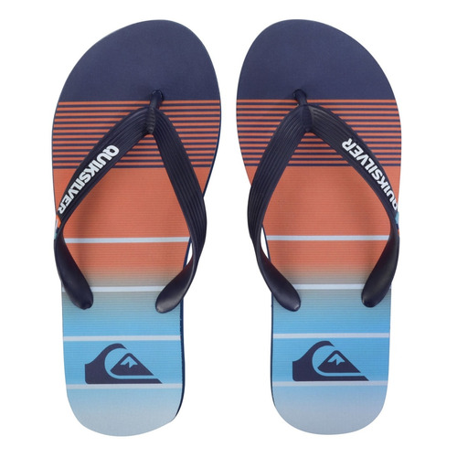 chinelo masculino quiksilver molokai division blue orange