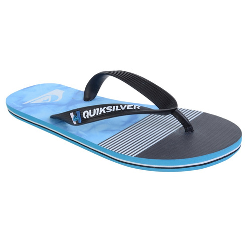 chinelo masculino quiksilver molokai remix preto azul