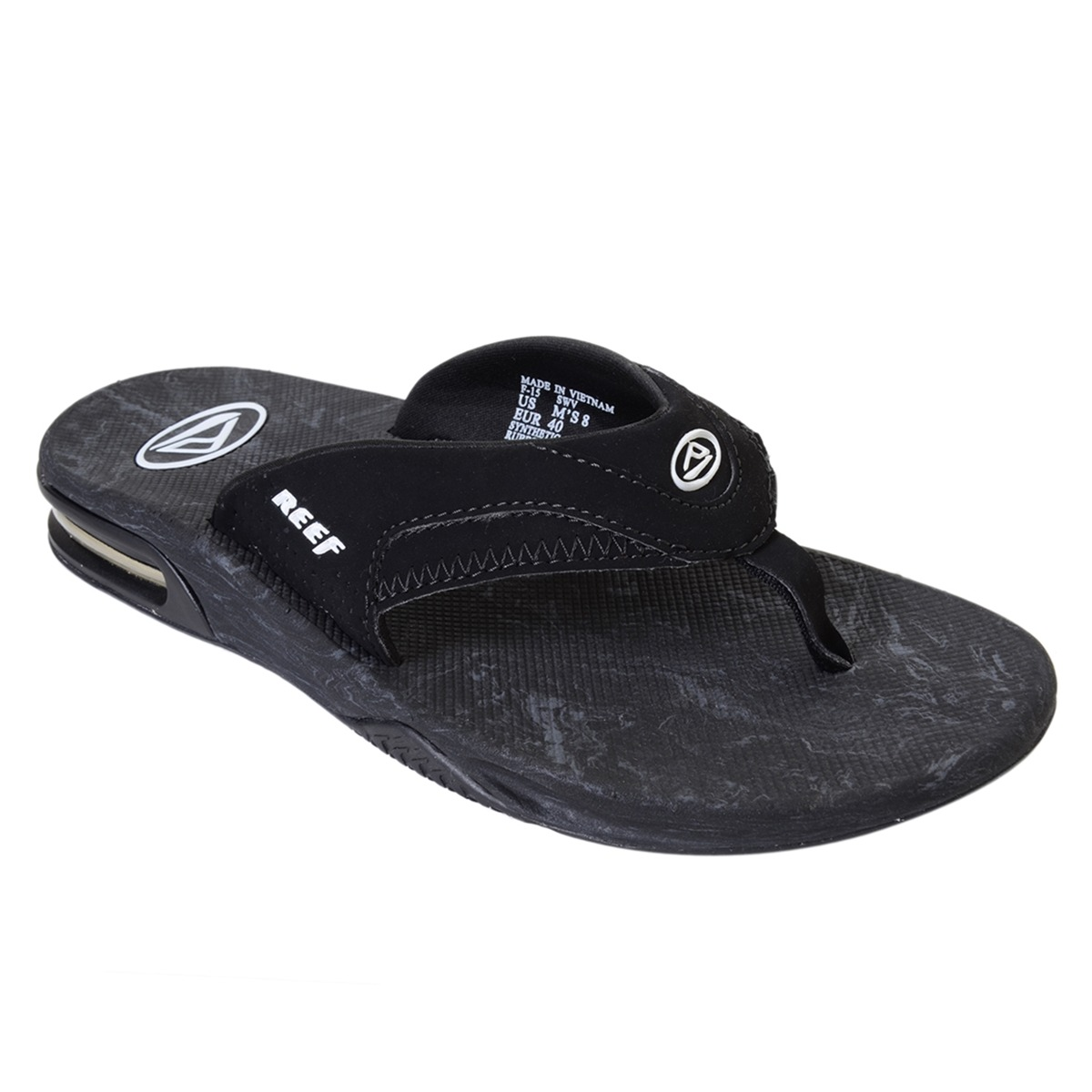 53a3e84b32878d Chinelo Masculino Reef Mick Fanning Prints Black Tribal