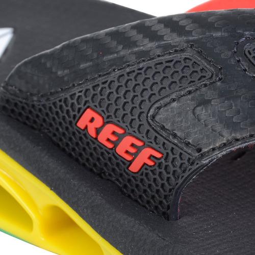 chinelo masculino reef xs-1 rasta preto
