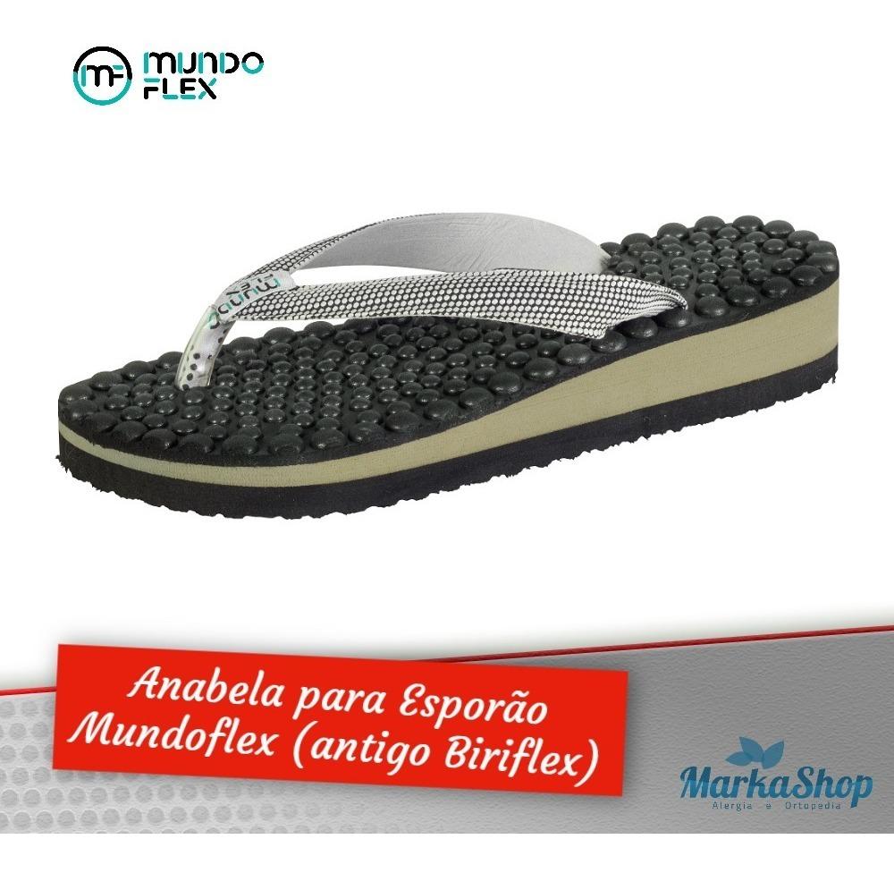 d5b14d9d0 Chinelo Massageador Esporão Anabela Biriflex Mundo Flex - R$ 59,90 ...