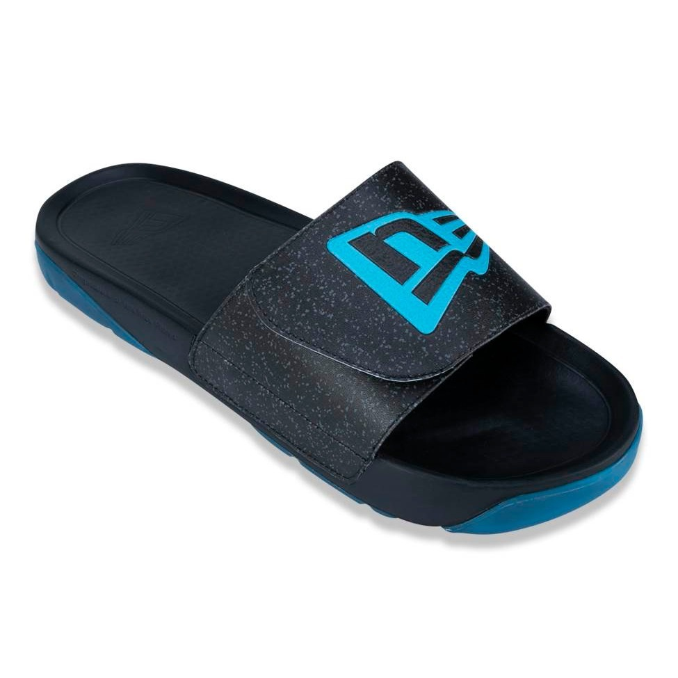 1ac1e1046 chinelo new era slip-on branded preto   azul. Carregando zoom.