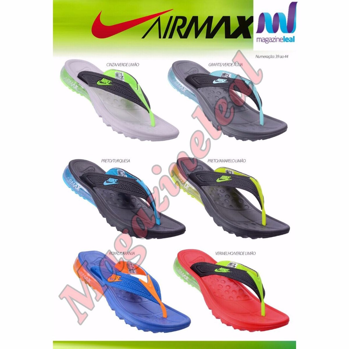 947873c9c99 Chinelo Nike Air Max