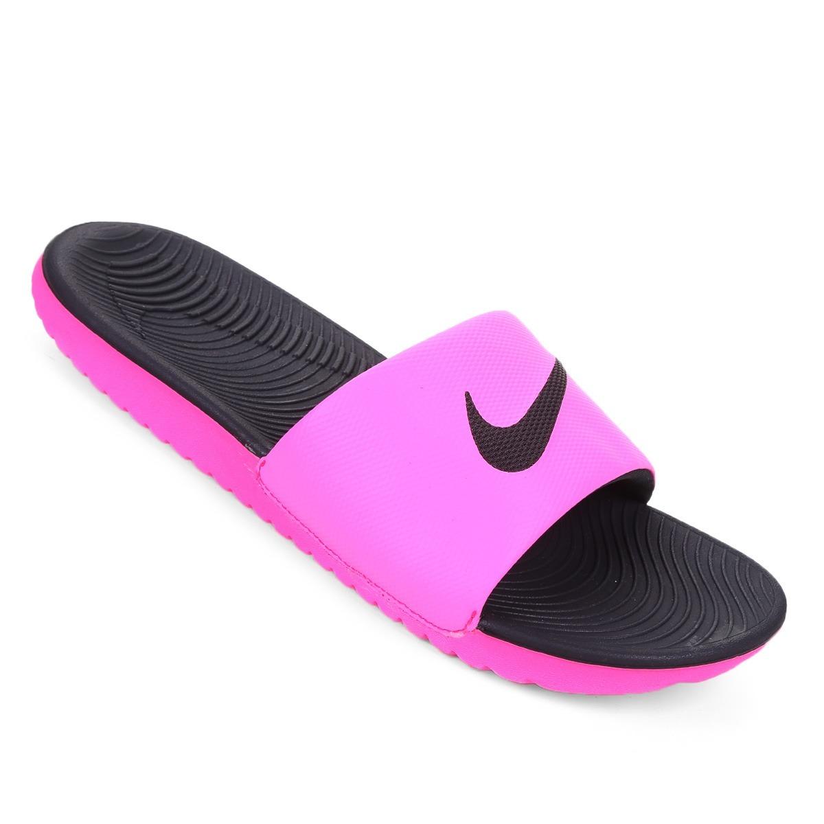 87b40f172 Chinelo Nike Kawa Slide Feminina Juvenil (novo E Original) - R  50 ...
