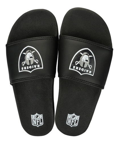 chinelo oakland raiders slip on colors - nfl