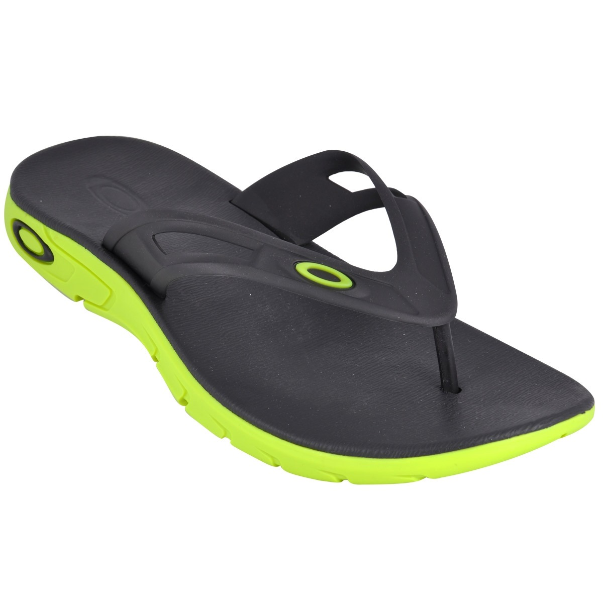 f79dc3ad8ab11 chinelo oakley rest preto e verde - cut wave. Carregando zoom.