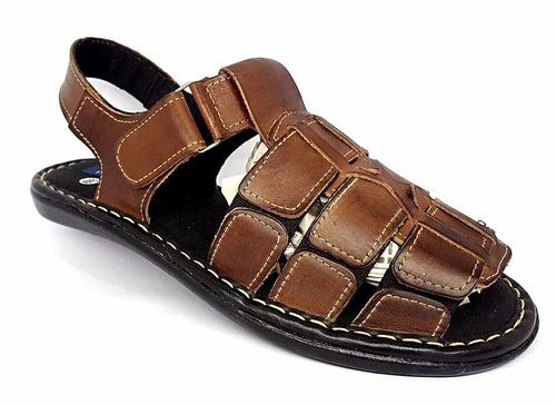chinelo; papete; sapatilha confortável em couro (masculino)