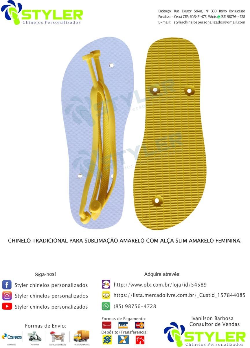 b42927d93 Chinelo Para Sublimação Amarelo, Kit Com 75 Pares - R$ 524,25 em ...