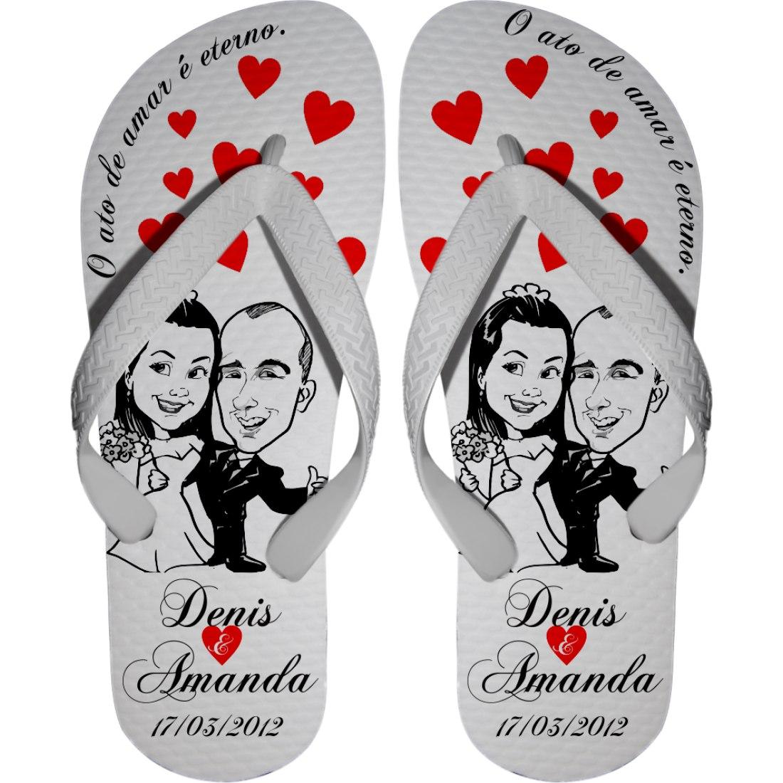 Resultado de imagem para havaianas casamento personalizadas