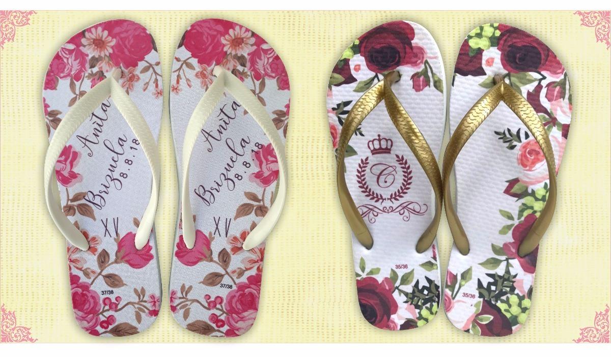 ec443e3301 chinelo personalizado casamento e 15 anos floral promoção. Carregando zoom.