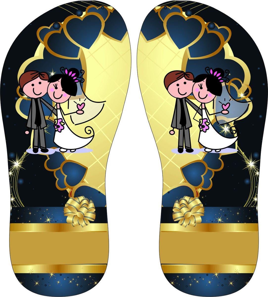 96d4cbf88b chinelo personalizado casamento noivos em noite dourado. Carregando zoom.