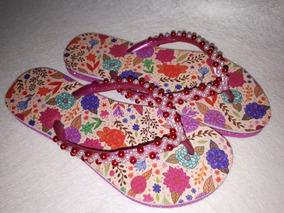 a56a8c9e6 Chinelos Personalizados Com Miçangas Ou Strass - Sapatos no Mercado Livre  Brasil