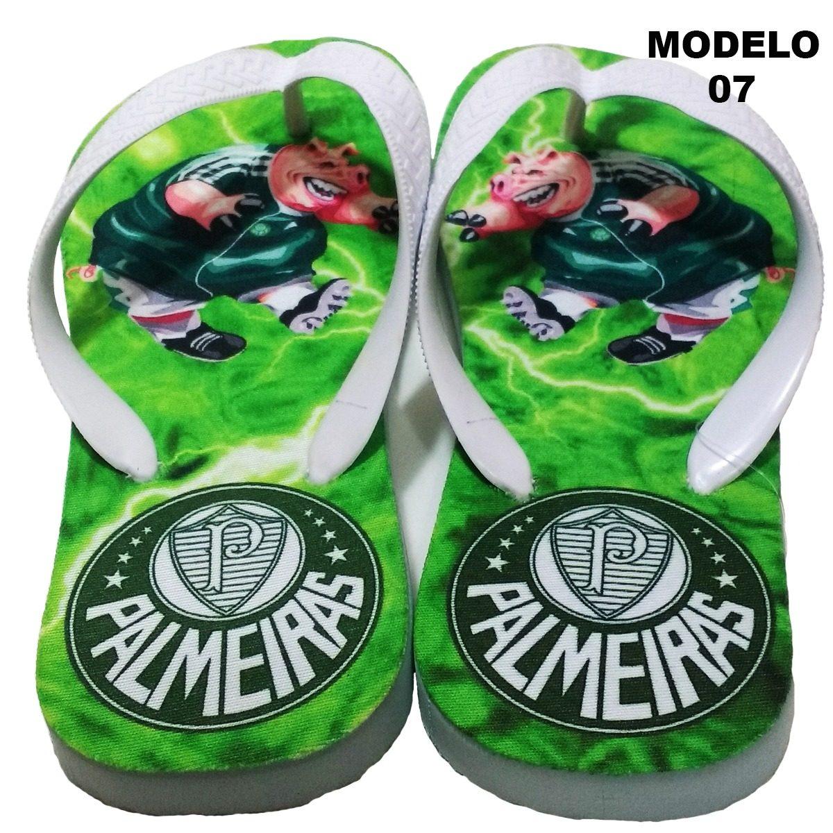 358e0cf23 Chinelo Personalizado Do Palmeiras Time (coloque Seu Nome) 7 - R$ 35 ...